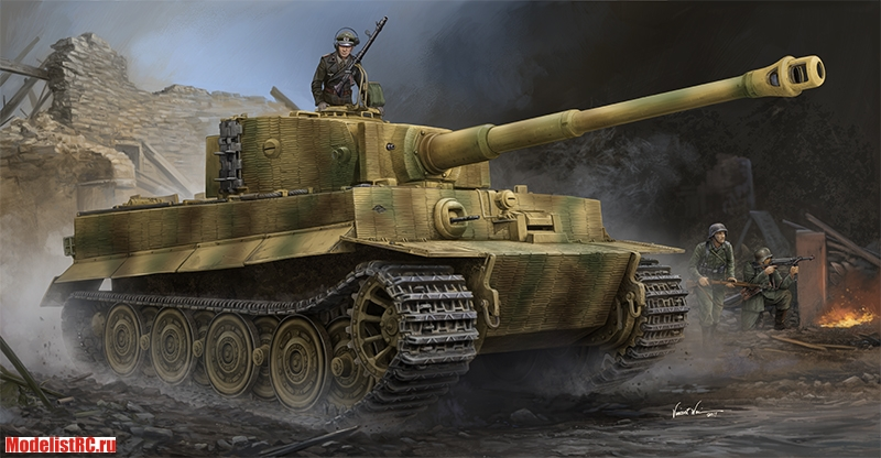 09540 Trumpeter 1/35 Pz.Kpfw.VI Ausf.E Sd.Kfz.181 Tiger I (Late Production) w/Zimmerit