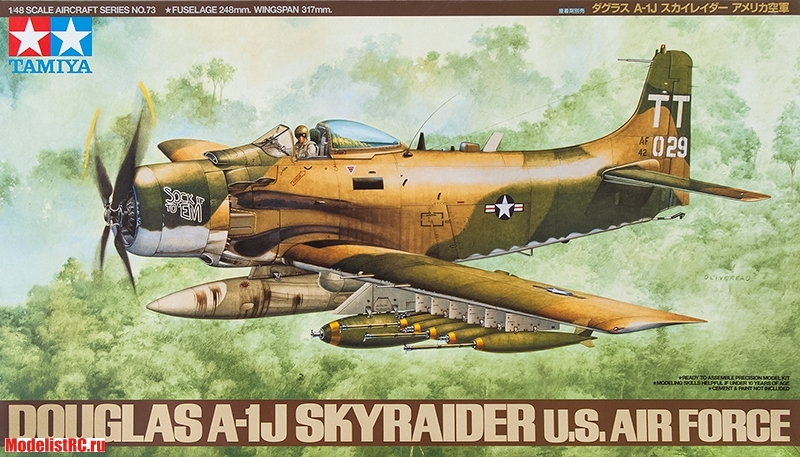61073 Tamiya 1/48 Douglas A-1J Skyraider U.S. Air Force