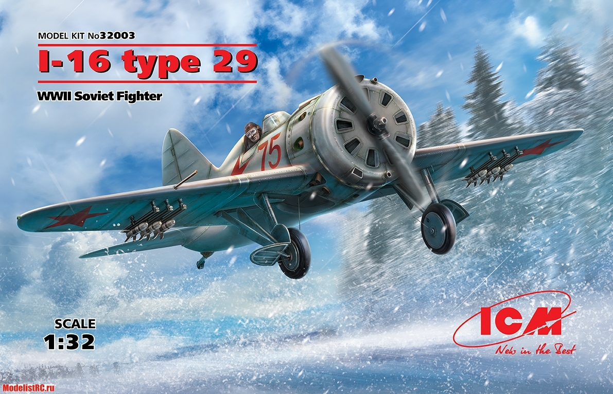 32003 ICM 1/32 I-16 type 29, WWII Soviet Fighter