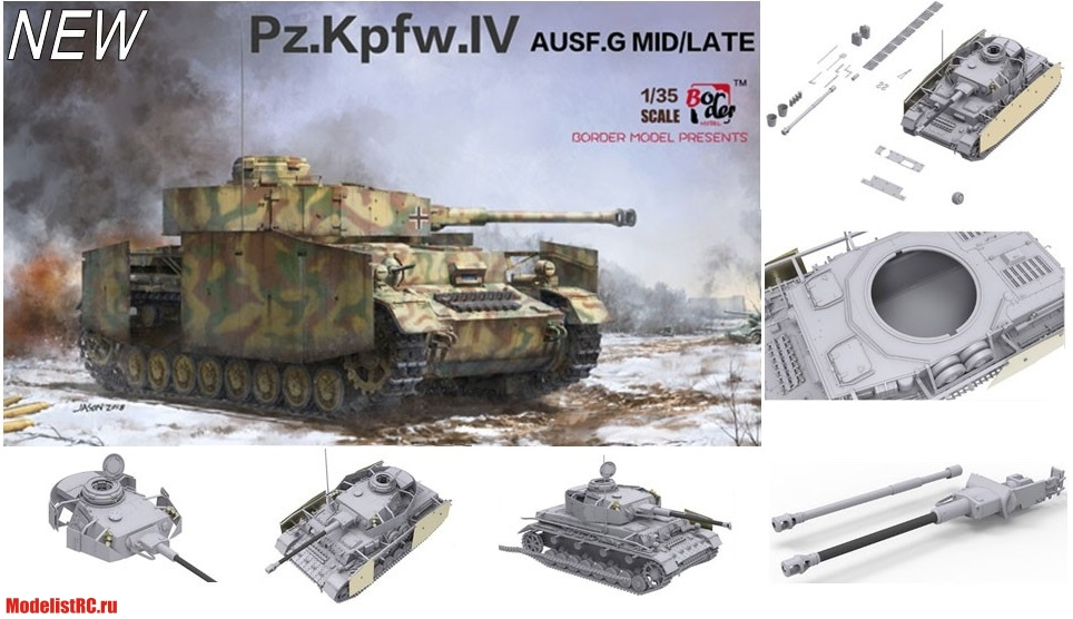 BT-001 1/35 PZ.KPFW.IV AUSF.G MID/LATE (2 IN 1) Border Model