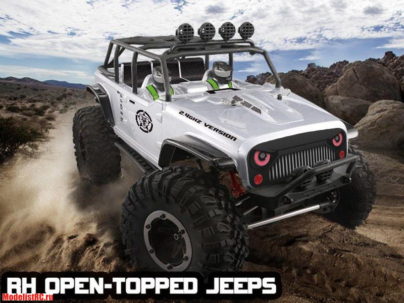Р/У Краулер Remo Hobby Open-Topped Jeeps 4WD 2.4G 1/10 RTR RH1073