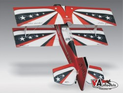 Авиамодель биплана PITTS S2CX-red ARF EPP, VA Models, Чехия