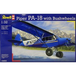 PIPER PA-18 with Bushwheels 1/32, Rewell