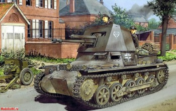 6258 Dragon 1/35 Танк Panzerjäger I, 4.7cm PaK(t) Early Production