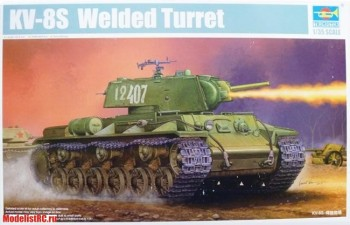 01568 Танк KV-8S Welded Turret Trumpeter