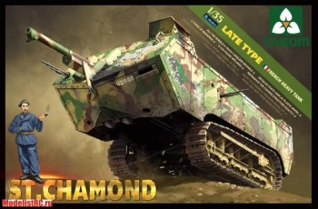 2012 Takom 1/35 FRENCH HEAVY TANK ST. CHAMOND LATE TYPE