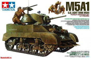 35313 Tamiya 1/35 U.S. Light Tank M5A1