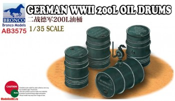 1/35 GERMAN WWII 200L OIL DRUMS AB3575 Bronco