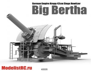 1/35 German Empire 420mm Big Bertha Siege Howitzer 2035 Takom