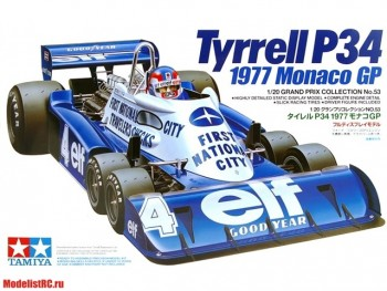 20053 Tamiya 1/20 Formula 1 (Grand Prix Collection) Tyrrell P34 1977 Monaco Gp