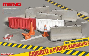 SPS-012 Meng 1/35 Concrete & Plastic Barrier Set