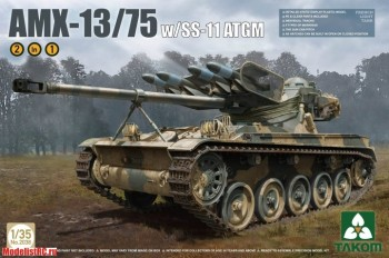 2038 Takom 1/35 French Light Tank AMX-13/75 with SS-11 ATGM 2 in 1