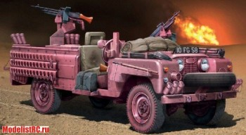 British 6501 135 Italeri SAS Land Rover Recon Vehicle Pink Panther