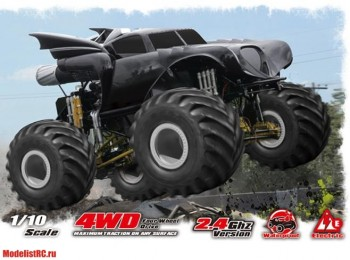 Monstar-Jam BATMAN 4WD+WS 2.4GHz Remo Hobby 1091