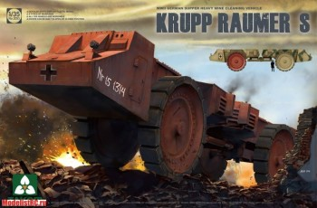 WWII German Super Heavy Mine Cleaning Vehicle Krupp Raumer S Takom 2053