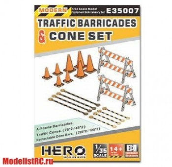 E35007 1/35 A-Frame Barricades Traffic & Cone Set
