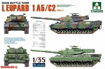 2004 Takom 1/35 Main Battle Tank Leopard 1 A5/C2 2 in 1