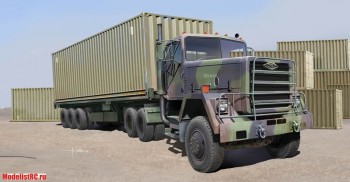01015 Trumpeter 1/35 M915 Tractor with M872 Flatbed trailer & 40FT Container