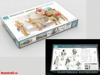 00429 Trumpeter 1/35 Modern U.S. soldiers – Logistics Supply Team