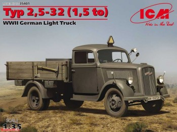 35401 ICM 1/35 Typ 2,5-32 (1,5 to), WWII German Light Truck