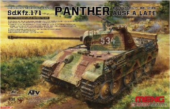 TS-035 1/35 German Medium tank Sd.Kfz.171 Panther Ausf.A LATE (с металлическим стволом)