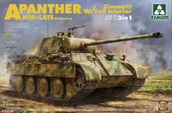 2100 1/35 WWII German medium Tank  Sd.Kfz.171/267 Panther A Mid/late production w/ Zimmerit/ full in