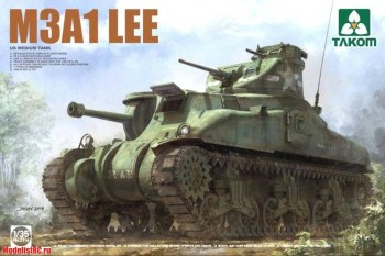 2114 Takom 1/35 US MEDIUM TANK M3A1 LEE