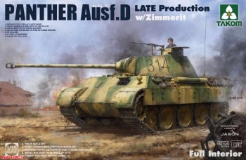 2104 Takom 1/35 Panther Ausf. D Late Production w/ Zimmerit Full Interior Kit
