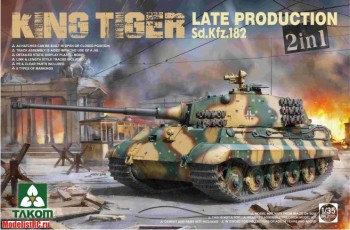 2130 Takom 1/35 WWII German Heavy Tank Sd.Kfz.182 King Tiger Late Production 2 in 1