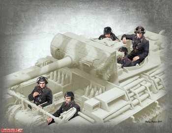 35201 Master Box 1/35  German Tank Crew 1944-45 MB35201