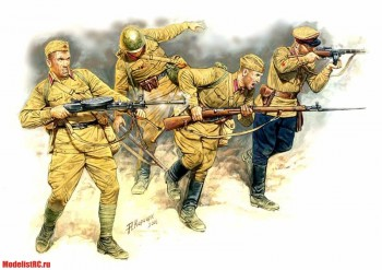 3523 MasterBox 1/35 Eastern Front Series. Kit №2. Soviet infantry in action, 1941-1942