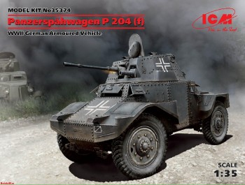 35374 ICM 1/35 Panzerspähwagen P 204 (f), WWII German Armoured Vehicle