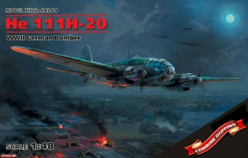 48264 ICM 1/48 He 111H-20, WWII German Bomber