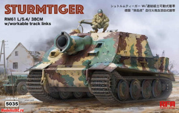 RM-5035 1/35 Rye Field Model STURMTIGER W/ WORKABLE TRACK LINKS