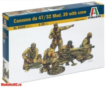 6490 Italeri 1/35 Cannone da 47/32 Mod. 39 with crew