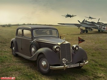 35537 ICM 1/35 Typ 320 (W142) Saloon, WWII German Staff Car