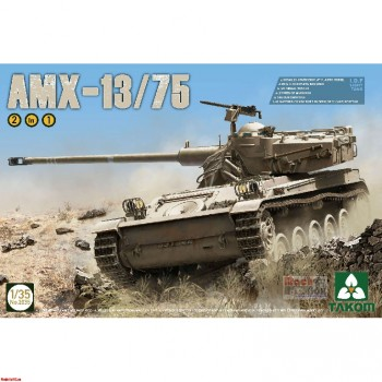2036 Takom 1/35 I.D.F Light Tank AMX-13/75 2 in 1