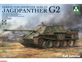 2118 Takom 1/35 Jagdpanther G2 German Tank Destroyer Sd.Kfz. 173 Full Interior kit